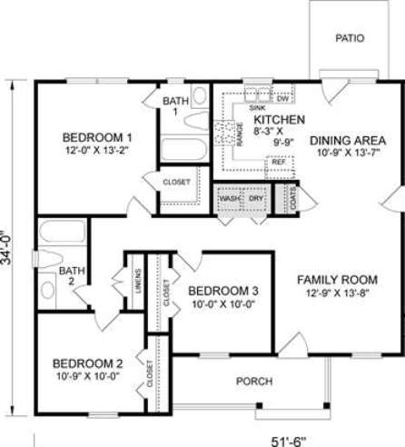 Mm s inc 108 pecan grove drive for Floor plans without garage